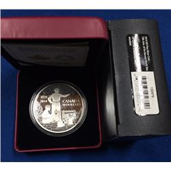 Canada 2014 $30 75th Anniversary of the Declaration of the Second World War Silver Coin