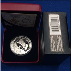 Canada 2015 $1 The 50th Anniversary of the Canadian Flag Proof Silver Dollar Coin