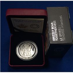Canada 2015 $20 Grizzly Togetherness Silver Coin