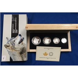 Canada 2016 Wolf Silver Fractional Coin Set