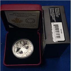 Canada 2017 $1 150th Anniversary of Canadian Confederation Proof Silver Dollar