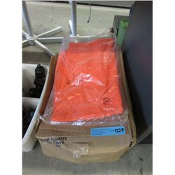 Case of Orange Bib Coverall Rain Pants