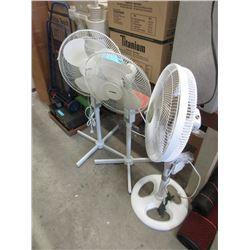 3 Oscillating Floor Fans