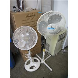 2 Oscillating Floor Fans