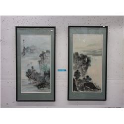 Pair of Framed Oriental Prints
