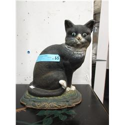 Large Vintage/Antique Cast iron Cat Door Stop