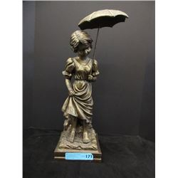 "21"" Tall Painted Plaster Statue"