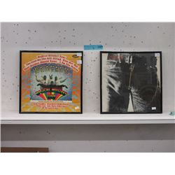2 Framed Vintage LPs with Records