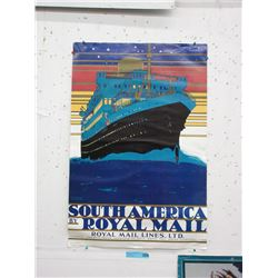 1975 Kenneth Shoesmith Ship Line Poster