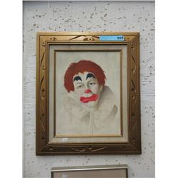 Diane Gosney Signed Original Clown Painting