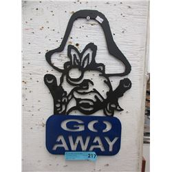 Sheet Metal Yosemite Sam Sign