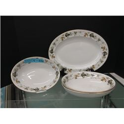 "Vintage Royal Doulton ""Larchmont"" China - 4 Pieces"