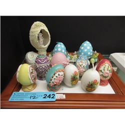 12 Egg Shaped Decorations