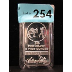 5 Oz. Silver Towne .999 Silver Investor Bar