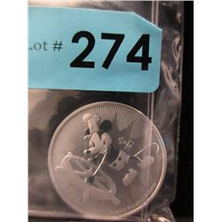 1 Oz. Niue Steamboat Willy .999 Silver Coin