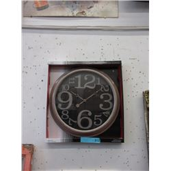 "New 15"" Wall Clock with Glass Lens"