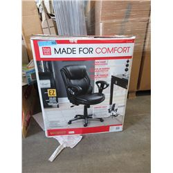 Bonded Leather Adjustable Office Chair