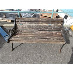 Park Bench with Cast Iron Ends