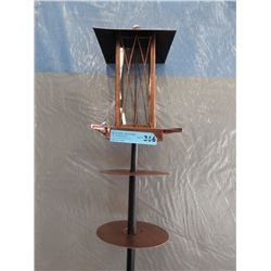 New Copper Tone Bird Feeder w/ Squirrel Baffle