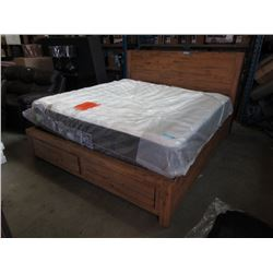 New LH Imports King Size Wood Bedframe