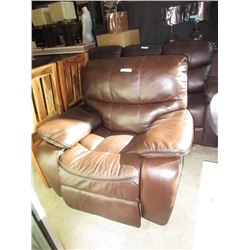 New Brown Bonded Leather Recliner