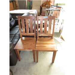 Pair of New LH Imports Wood Dining Chairs