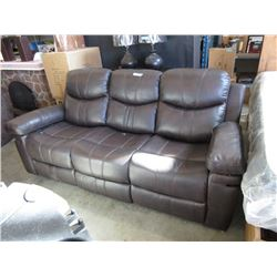 New Bonded Leather Double Reclining Sofa