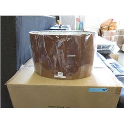 Case of New Brown Oval Lamp Shades