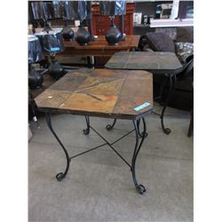 Pair of Tile Top Patio Tables