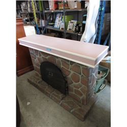 Vintage Electric Fireplace with Surround