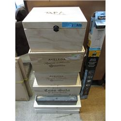 7 Assorted Wood Wine Boxes
