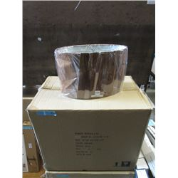 Case of 6 New Brown Oval Lamp Shade