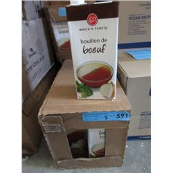2 Cases of Western Family Beef Broth