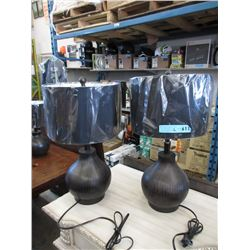 2 New Table Lamps with Wood Bases