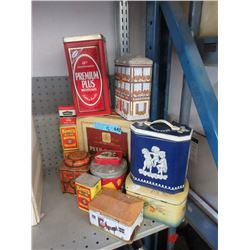 13 Assorted Advertising Tins