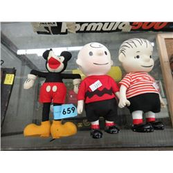 1966 Charlie Brown Dolls & Felt Mickey Mouse