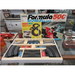 Vintage Lincoln Formula 500 Slot Racing Set