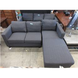 "New 80"" Upholstered Sofa with Chaise End"