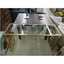 New Metal Based Sofa Table w/ Glass Insert