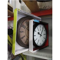 2 New Wall Clocks with Glass Lens