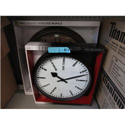 2 New Wall Clocks - Glass Lenses