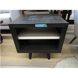 New LH Imports Wood End Table with Shelf