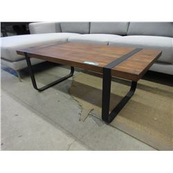 New LH Imports Coffee Table with Metal Frame