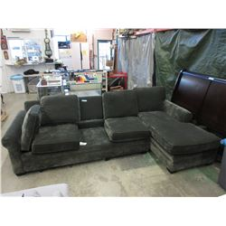 108  Upholstered Sofa with Chaise End