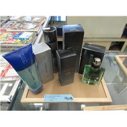 6 Bottles of Men's Cologne and Grooming Products