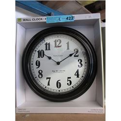 "2 New 18"" Wall Clocks with Glass Lens"