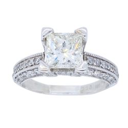 14KT White Gold 1.63ctw Diamond Ring