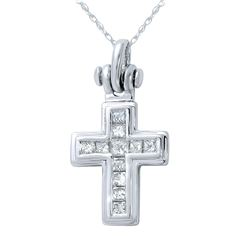 14KT White Gold 0.50ctw Diamond Pendant with Chain