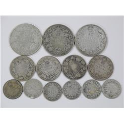 Canada Silver Coin Lot - 50 Cent, 25 Cent, 10 Cent