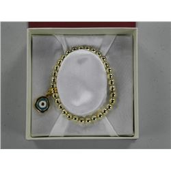 Ladies .925 Bracelet (Gold Tone) Bead Set, Chain T